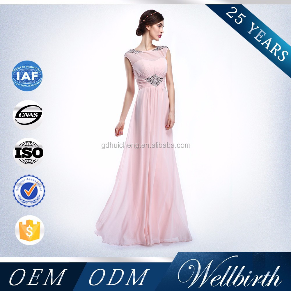 Halter Designs Pink Color Evening Dress Of The Bride Dress