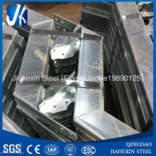 Galvanized structural steel stairs
