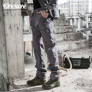 ESDY Outdoor Multi Pockets Army Trousers Military Combat Tactical Hunting Cargo Pants
