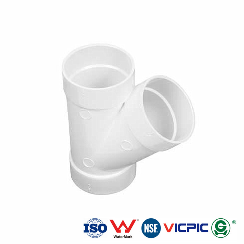 BS standard PVC Y cross fitting for Soil and Waste discharge
