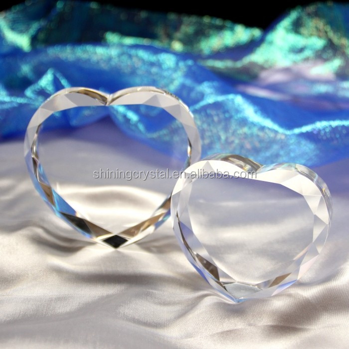wholesale glass block heart shape crystal block gift
