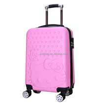 2017 High Quality ABS + PC Wholesale Large Capacity Trolley Bag Luggage Promotional
