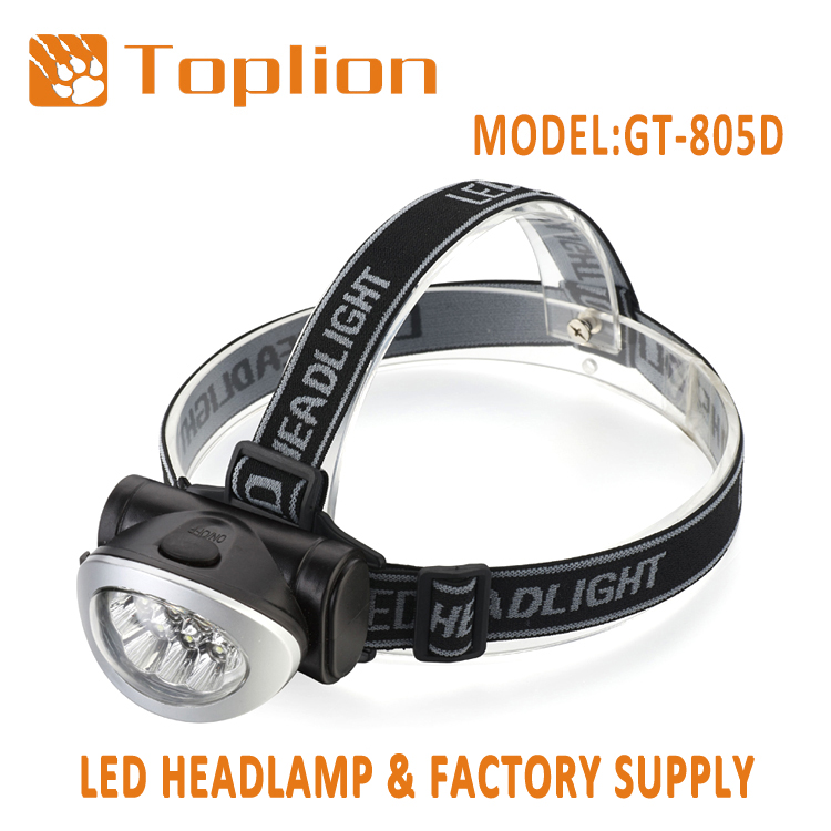 Comfortable wearing waterproof led head lamp lightweight unique design