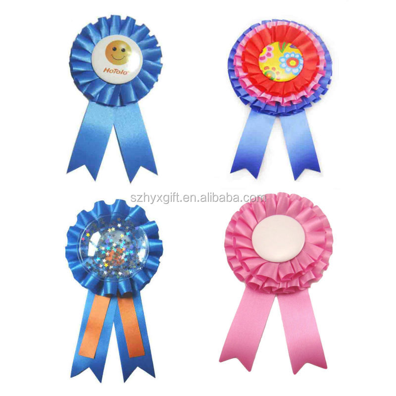 Customized/Blank Novelty One-tier/Two-deck/Three-layer PVC Quality Handmade Factory Award Ribbon Rosette/Professional Supplier
