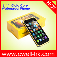 6.0 inch IP68 Proofing W9 Smart Phone Waterproof Shockproof Dustproof Andriod 5.1 mobile phone