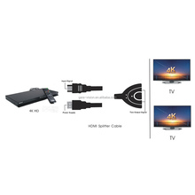 High quality pigtail 1 in 2 out HDMI Splitter switch hub box 1.4 OEM