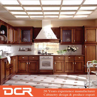 China Made Birch Rubber Solid Wood Cheap Kitchen Cabinets