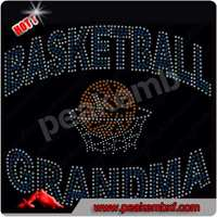 Best Saling Iron ons Basketball Grandma Rhinestone Heat Transfers for Tee Shirts