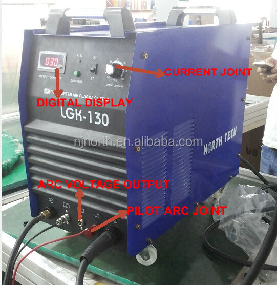 plasma cutter CUT130 made by 2PCS IGBT modules, 100% duty cycle cnc plasma cutting machine for cnc system