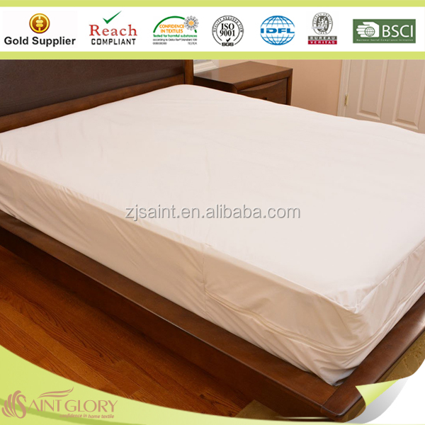 Washable Waterproof Mattress Cover With Zipper Argos Bed Bug Encat Anti Dust