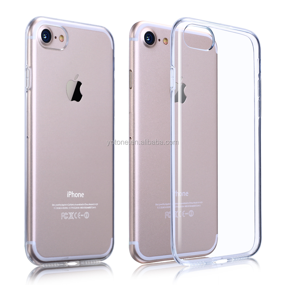 Ultra-thin for iphone 7 clear case 4.7 / TPU cell phone case / bulk cheap Mobile Bumper Back TPU case for Iphone 7