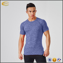 Ecoach 2017 new design athletic workout fitness running sports gym dry fit t shirt for men