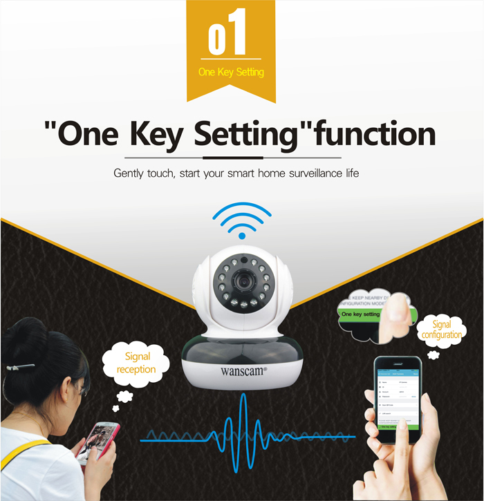 960P IR-CUT Onvif mini HW0046 Wireless Video P2P IP Camera