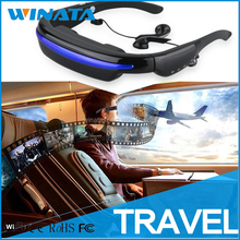Portable Multimedia Player 3D Video Glasses Eyewear - Movies on 52 Inch 4:3 Virtual Screen Wherever You Go