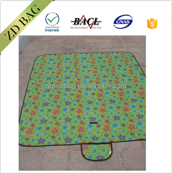 "75""x 64"" large size microfiber weighted sand proof beach blanket mat with corner anchor pockets"