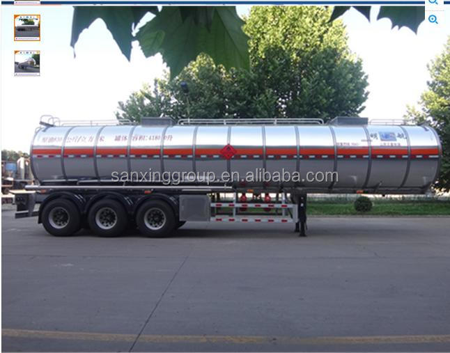 Crude Oil Transport Carton Steel Tanker Trailer Semi Trailer
