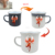 hot selling 2017 amazon 450ml red custom flag iron cast enamel hot color changingcup milk mug with oem design