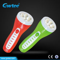 Plastic rechargeable led flashlight