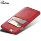 Oem Fashion Luxury Leather Card Holder Cell Heat Proof Cases Shockproof Cover Wallet Mobile Phone Case For Iphone 6 For I Phone