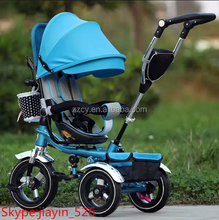 2017 baby tricycle new models/baby walker tricycle push trike / kids pedal trike