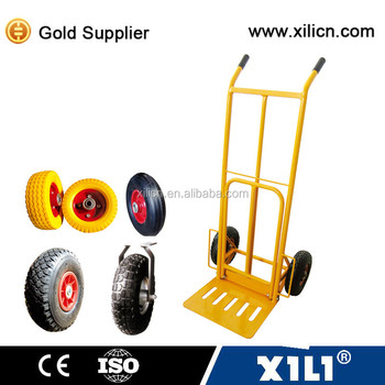 Multifunctional folding hand truck HT1827 with two solid wheels