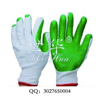 cotton lined rubber gloves for labor safety
