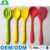 FDA approval premium silicone kitchen utensil set in hygienic solid coating
