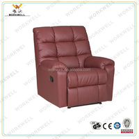 WorkWell pu leather luxury recliner sofa with footrest Kw-Fu26