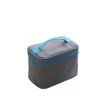 Newest customized logo gray quadrate divers polyester insulated waterproof frozen lunch cooler bag