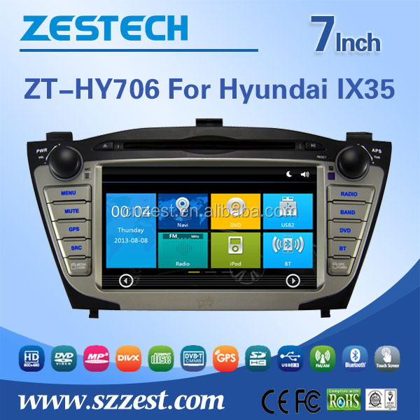 car stereo for Hyundai Tucson IX35 2012 2013 2014 double din car stereo with GPS BT TV 3G car dvd radio stereo system