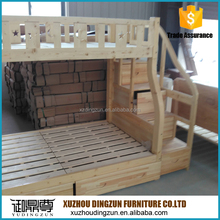Good quality solid wood heavy duty bunk bed for children and adults made in china for wholesale