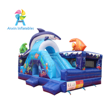 Hot sale undersea world design inflatable bouncers combo castle for party rentals