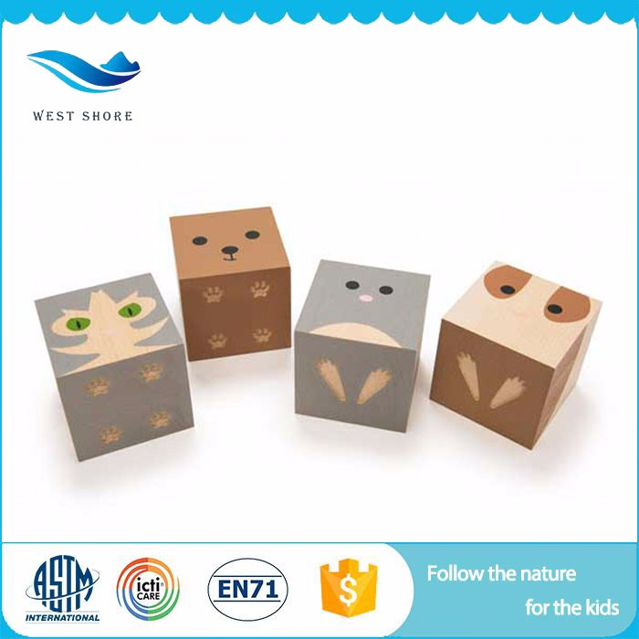 Kids smart montessori infant toys color wooden dice certificate wooden toys