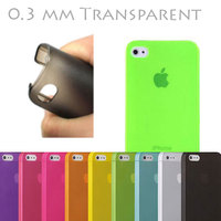 Best Price Thin Hard Case Cover Transparent Matte Ultra Slim 0,3 mm for iPhone 5 5G 5S 5C Green