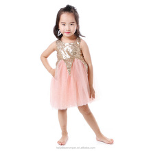 OEM Service China 2016 Kid Girl Boutique Dress For Birthday Party