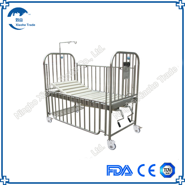 wholesales stainless steel hospital adult baby crib