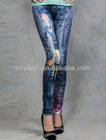Skinny jeans denim like legging opaque extra thick warm tights pants jean like thick legging