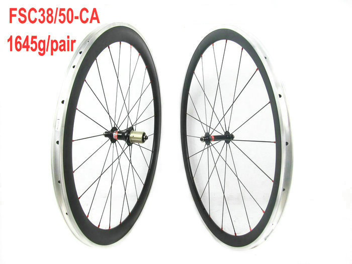 UD matt, Novatec hub, Sapim cx ray spoke, mixed 38mm 50mm clincher aluminum carbon bicycle wheelset