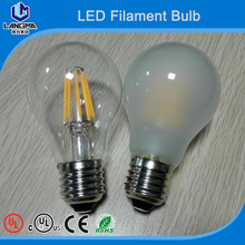 amber/half mirrow/clear glass bulb led filament-UL approved high power led bulb 6w 8w-A60 A19 retro led filament e27 8w bulb