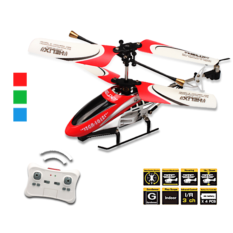 3 Channel toy remote control helicopter with gyro