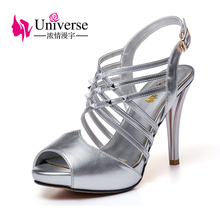 E093 sexy cross strap silm high heel shoes rivet women sandals