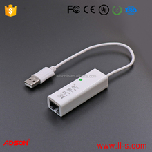 USB 2.0 to 10/100 Fast Ethernet LAN Wired Network Adapter