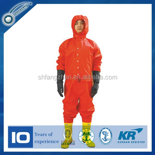 PVC light-duty chemical protective suit/clothing for Firefighters