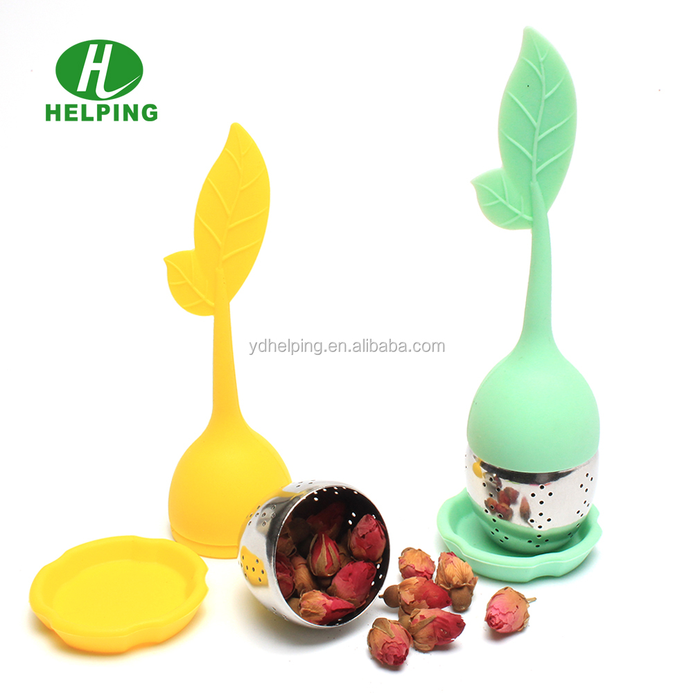 silicone leaf shape tea filter silicone infuser coffee filter mesh