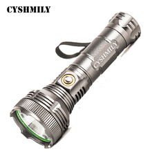 CYSHMILY Adjustable Focus 1*18650 Rechargeable Waterproof Tactical Work High Power Torch Light