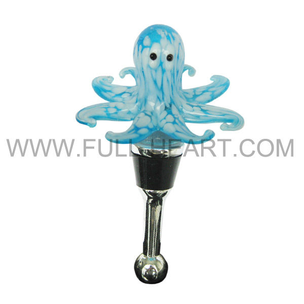 2016 HOT SALE Murano Glass Collection Animal Octopus Design Wine Bottle Stoppers