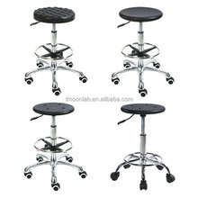 High Quality Laboratory furniture height adjustable ESD chair with PU saddle stool