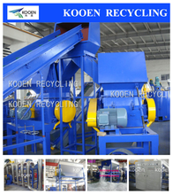 Waste plastic recycle agricultural PP PE LDPE film crushing washing line