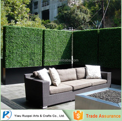 PE plastic green wall artificial garden boxwood hedge