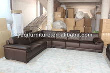 2013 Latest Design, Modern Genuine Top Grain Leather L Shaped Sofa Set modern african furniture A097-26